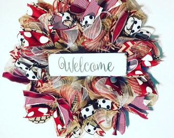 Everyday Wreath, Custom colors Wreath , Welcome Wreath, Custom Colors Welcome Wreath