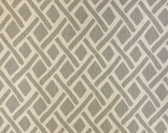 Light Grey Geometric - Upholstery Fabric by the Yard