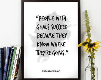 Earl Nightingale, Earl Nightingale quote, Watercolor Art, Watercolor Quote, Wall art Quote, Motivational quote, Inspirational quote.