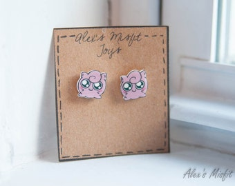Kawaii Jigglypuff Post Earrings