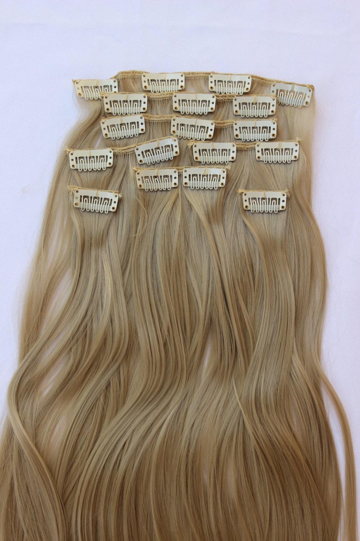 24 Ash Blonde Hair Extension 8 Piece Setblonde Hair