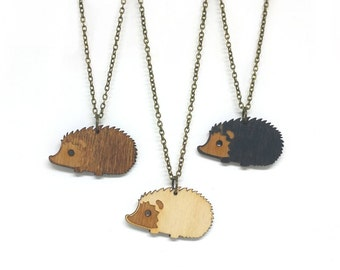 Hedgehog Necklace - Handmade - laser cut - laser cut jewelry