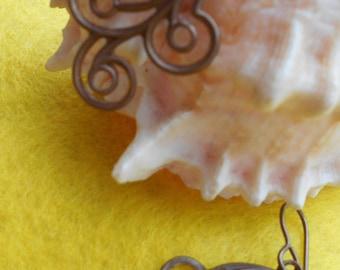 Unique Brass Earrings Swirl With Delight!