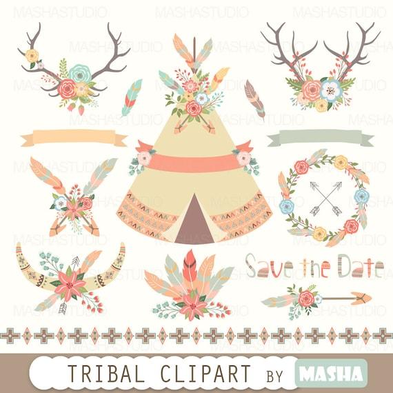 floral tribal clipart tribal clipart tribal tent indian clipart rh etsystudio com tribal clip art borders tribal clipart free