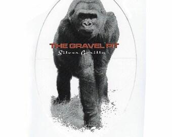 The Gravel Pit - Silver Gorilla - Bumper Sticker - 1990's