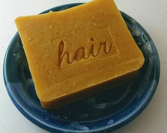 Carrot Shampoo Bar with Lemon and Bay Rum essential oils - Sample size Carrot top shampoo bar - palm oil free shampoo - palm free shampoo