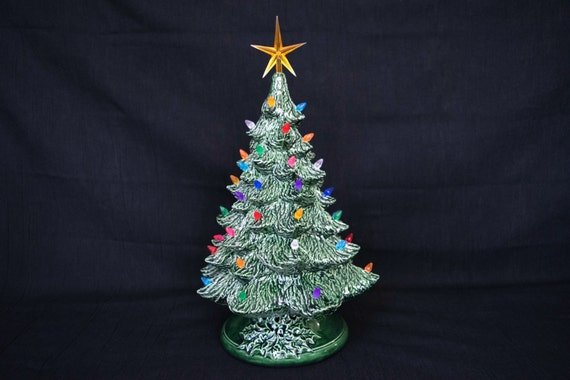 Items Similar To Vintage Style Lighted Christmas Tree 16
