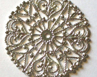 1 light silver filigree 31mm - MR253 rosette