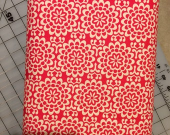 HALF YARD cut of Amy Butler -  True Colors - Wallflower in Poppy PWTC022