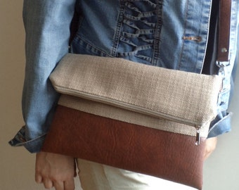 Foldover clutch / crossbody purse / shoulder bag