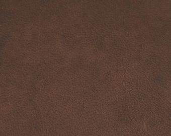 Coupon of leather Brown Sheepskin