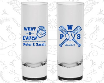 What a Catch, Customized Shooter Glasses, Sports Wedding Shooters, Baseball Wedding Shooters, Baseball Bat, Custom Shooters (43)
