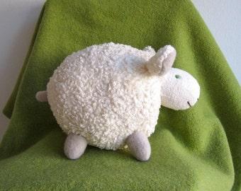 Sheep, lamb, organic, soft, cuddly, white, plushie, baby, toddler, shower gift