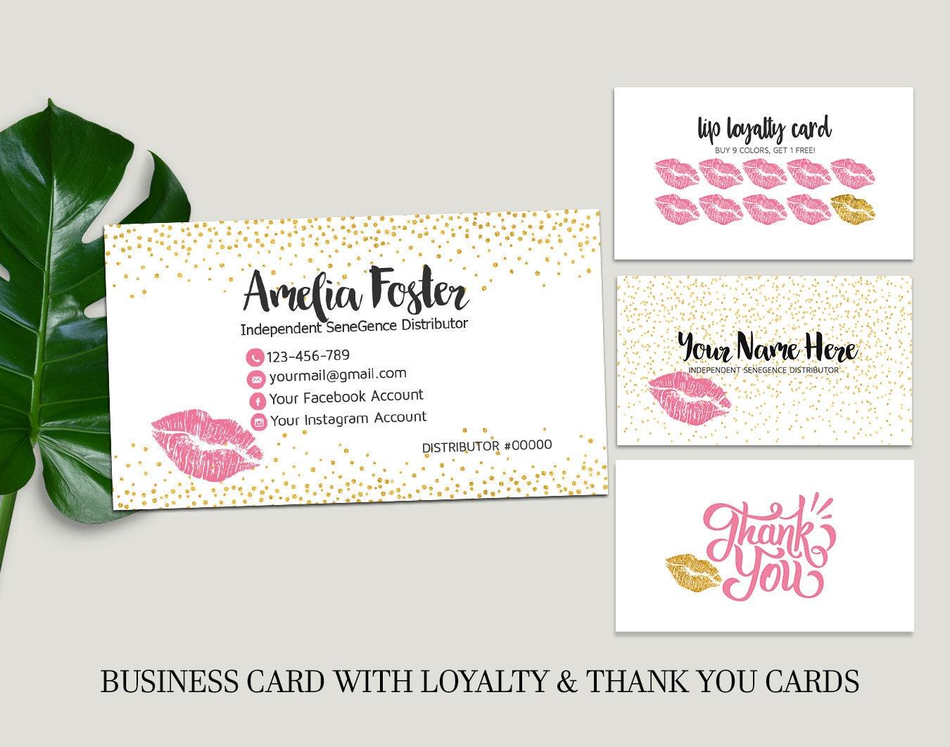 Lipsense Business Cards Custom Business Cards Senegence