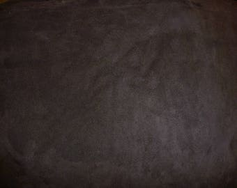 "Suede Leather 12""x12""  DARK CHOCOLATE BROWN Garment Suede Cowhide 3.5-4 oz / 1.4-1.6mm PeggySueAlso™ E2825-20"