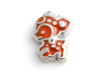 Deer floating Charms for Living Lockets, Glass Memory Lockets