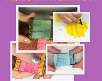 Create Matchboxes - On the Edge Boxes - Polymer clay Mixed Media Tutorial - Digital PDF Download