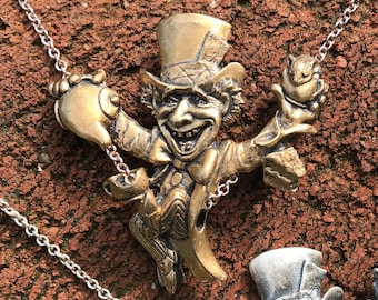 Mad Hatter Necklace  (Bronze and Sterling Silver)