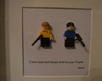 Star Trek Friend mini Figure Quote Picture
