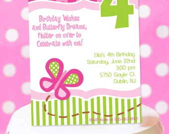 Butterfly Birthday Party Invitation   Butterfly Party Invitation Printable   Garden Party Invite   Girl 1st Birthday   Amandas Parties To Go
