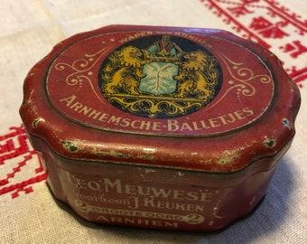 Antique DUTCH Tin Canister
