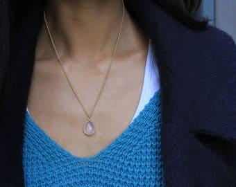 """Necklace """"Caprice"""" rose quartz"""