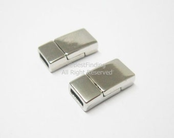 Magnetic clasp 6x2mm leather clasps 6mm Flat leather clasp for bracelet -5pcs