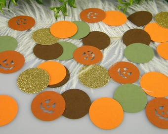 Pumpkin Baby Shower Table Decoration, Little Pumpkin Party, 1st Birthday, Fall baby shower, Baby Pumpkin Confetti  | 125pcs