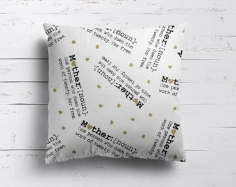 Mother Pillow Cover - Mother's Day Pillow Cover - Mom Gift - Throw Pillow Cover - Mom Cushion Cover - Cotton Pillow Cover - 14x14 - Mother