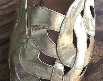 Maud Frizon gold vintage sandals