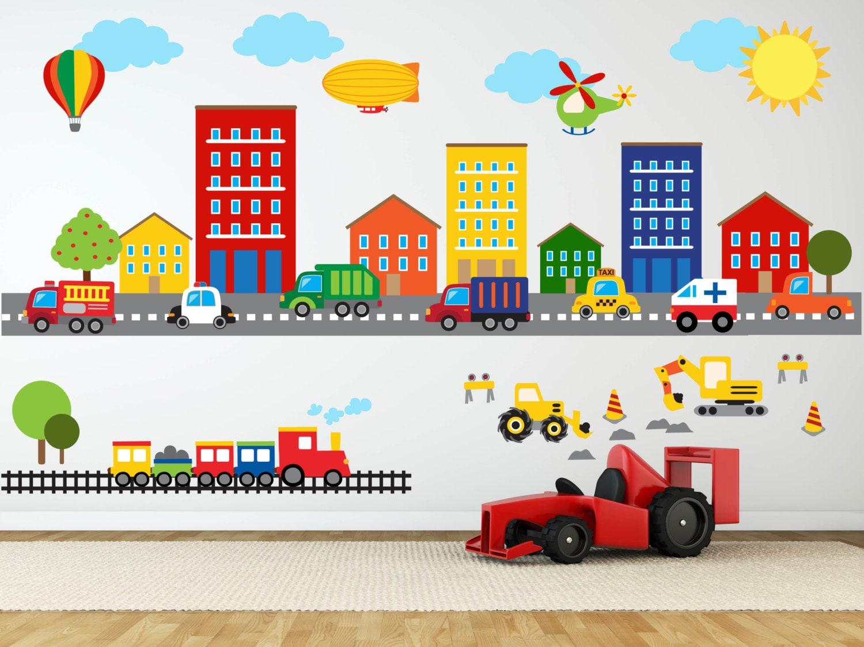 Construction Wall Decal Truck Transportation