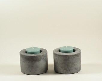 Concrete Votive Holder - set of 2
