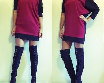 Kimono Sleeve Dress // Pick your own color combination