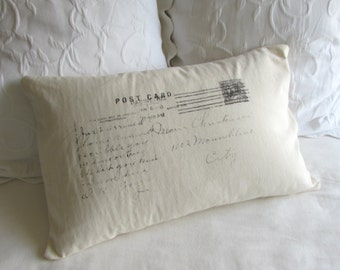 POSTCARD sham decorative pillow cover