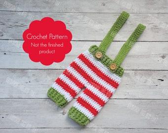 CROCHET PATTERN - newborn pants crochet pattern, baby pants pattern, crochet pants pattern, newborn christmas patterns, christmas pants