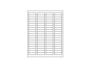 Blank Labels, 80 Per Sheet
