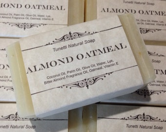 Almond Oatmeal Homemade Soap, Handmade soap, Natural Soap, Cold Process Lye Soap