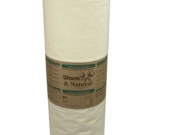 """Warm and Natural Batting, King Size, 124"""" x 120"""", Cream colored, 2151"""