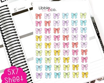 BW MC105 Spring Bow Stickers.  Perfect for the Erin Condren, Plum Paper, Happy, Mambi, or Inkwell Press Planner!!!