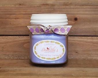 Candle - Lavender - Soy Candle, 8 0z Candle, Lavender Soy Candle, Container Candle, Mason Jar Candle, Mason Jar Soy Candle,  Natural Candle
