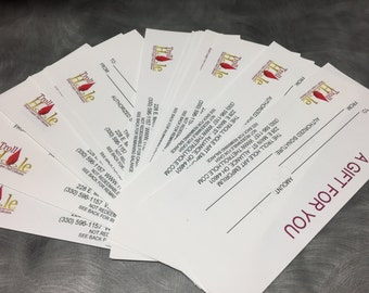 Gift Certificate- 10, 15 or 25