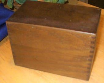 Vintage Receipt Box, Wood Receipt Box, Mid-Century Receipt Box