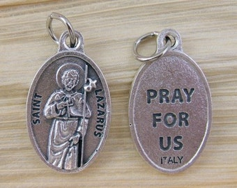 2 Saint Lazarus Medals - In the Company of Dogs - Therapy Dog