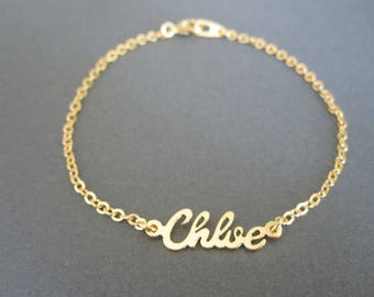 Personalized Mini Name Bracelet in 4 Colors - Custom Name Bracelet - Name Jewelry - Baby Name - Bridesmaid Gifts - Bridesmaid jewelry