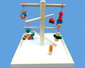 bird toy play gym for small and medium birds , parrot play gym