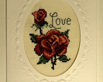 Cards with cross stitch inserts