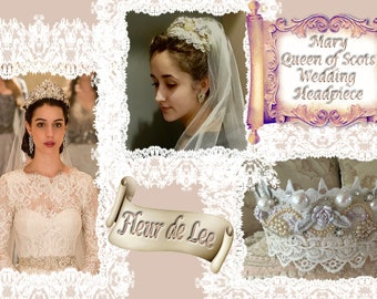 Reign, Mary Queen of Scots Wedding Headpiece