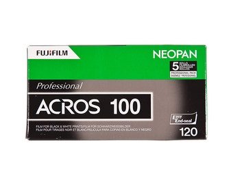 Fujifilm Neopan 100 Acros B&W Film - 120 Roll Film - 1 roll - Medium Format Black and White Film - Expires 05/2016