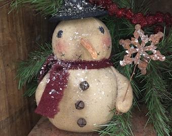 Primitive Snowman Ornie PATTERN