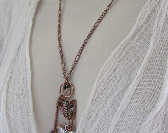 Fall Flight of the Dragonfly Necklace